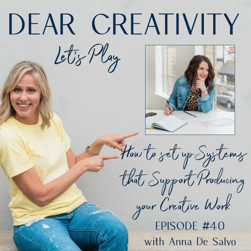 anna de salvo creative productivity podcast graphic