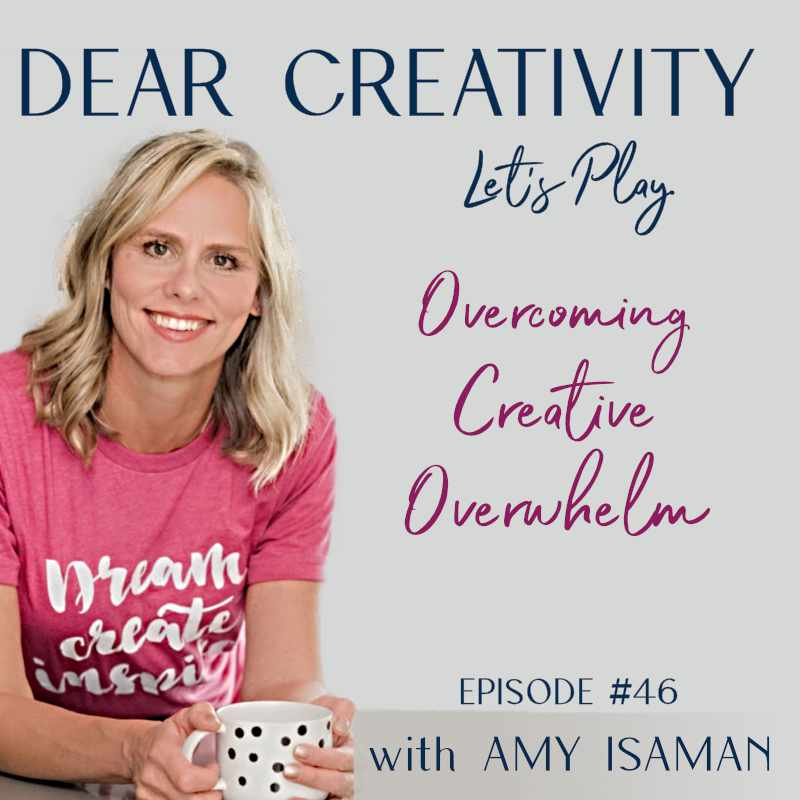 overcoming creative overwhelm graphic